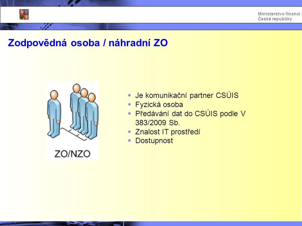 Zodpovědná osoba / náhradní ZO