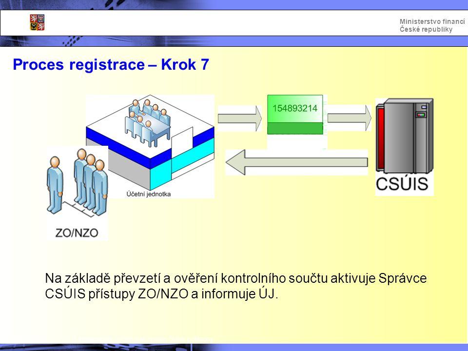 Proces registrace – Krok 7