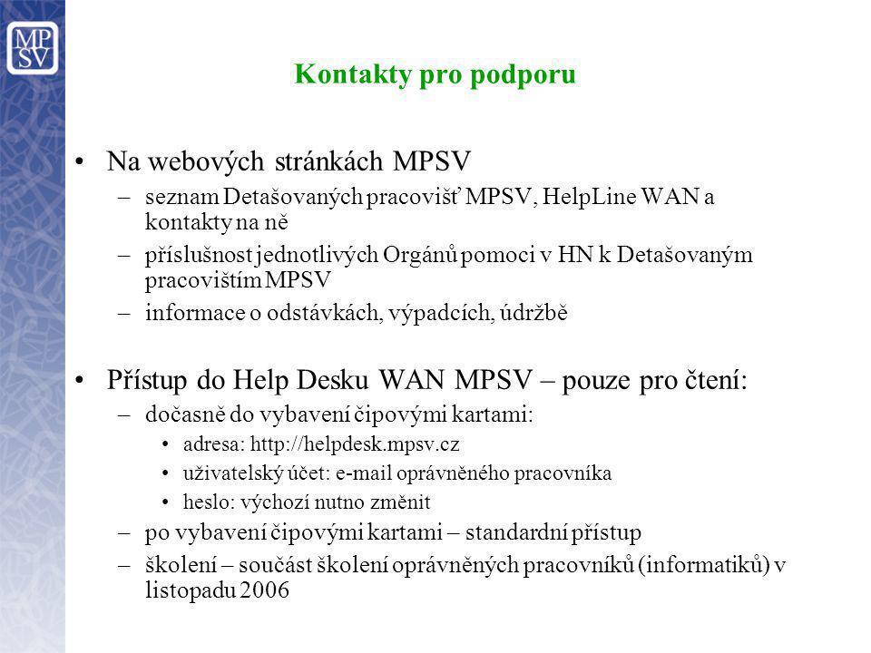 Na webových stránkách MPSV