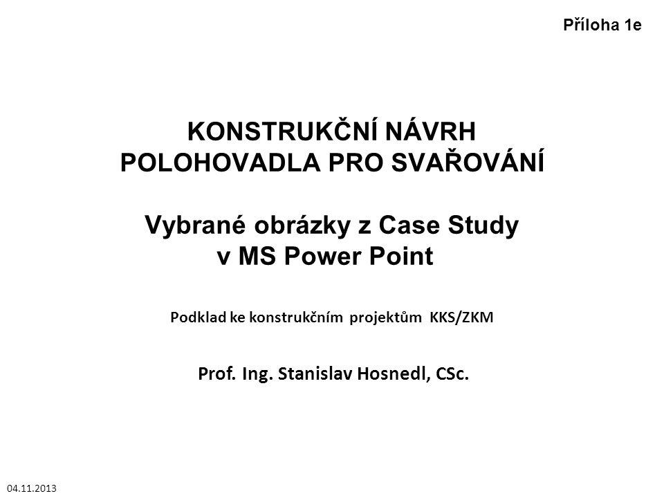 Podklad ke konstrukčním projektům KKS/ZKM