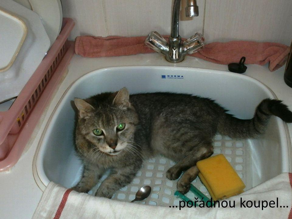 …pořádnou koupel…