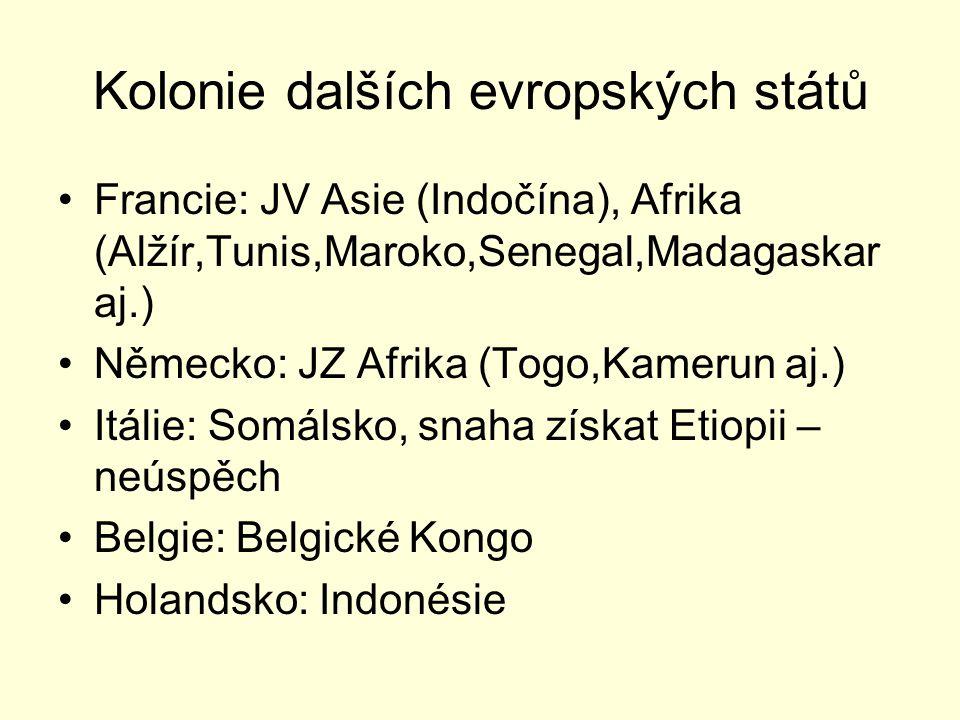 Kolonie dalších evropských států