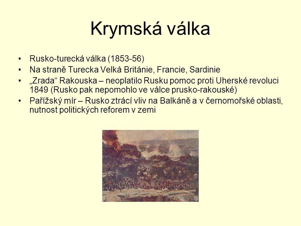 Krymská válka Rusko-turecká válka (1853-56)
