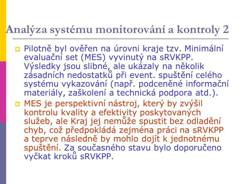 Analýza systému monitorování a kontroly 2