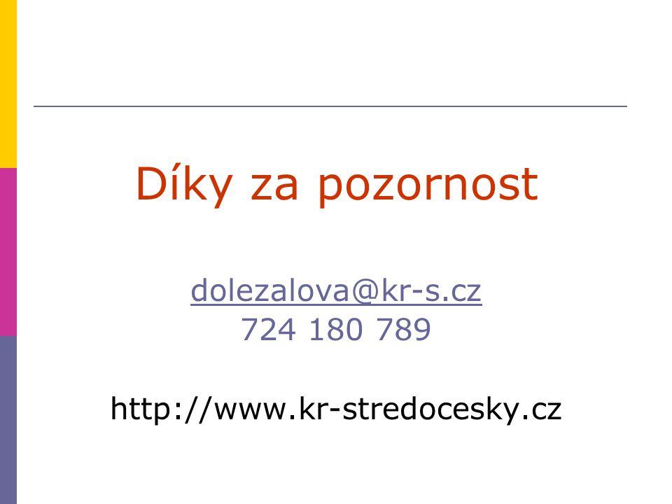 Díky za pozornost dolezalova@kr-s.cz 724 180 789