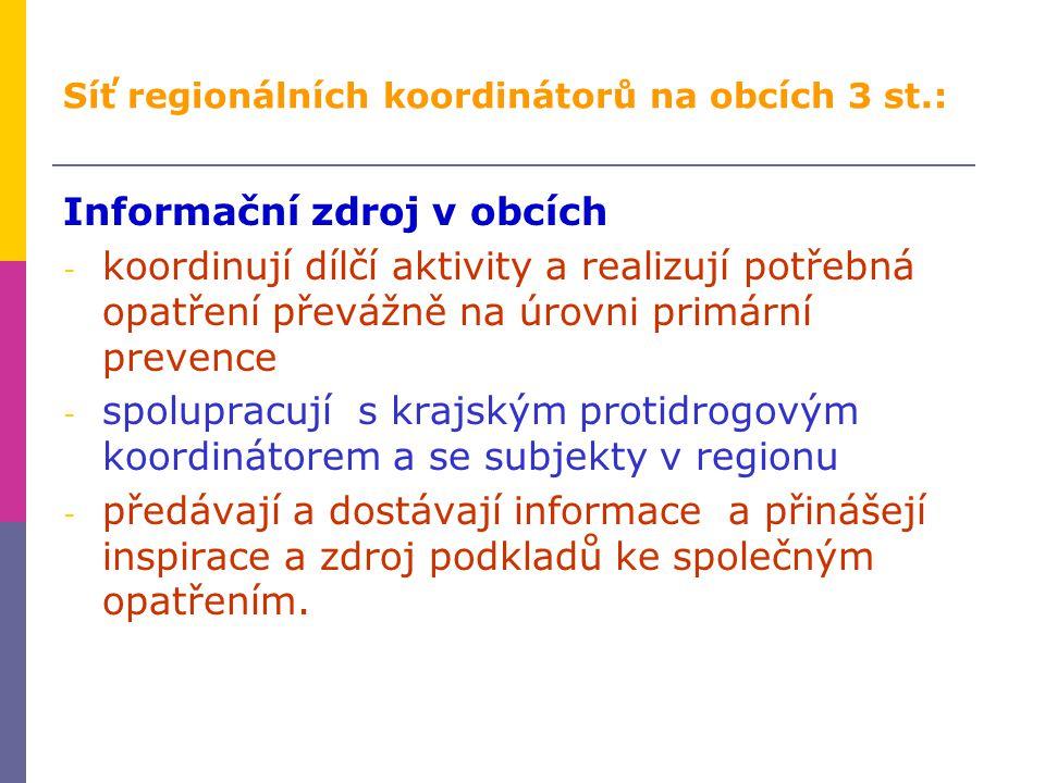 Síť regionálních koordinátorů na obcích 3 st.: