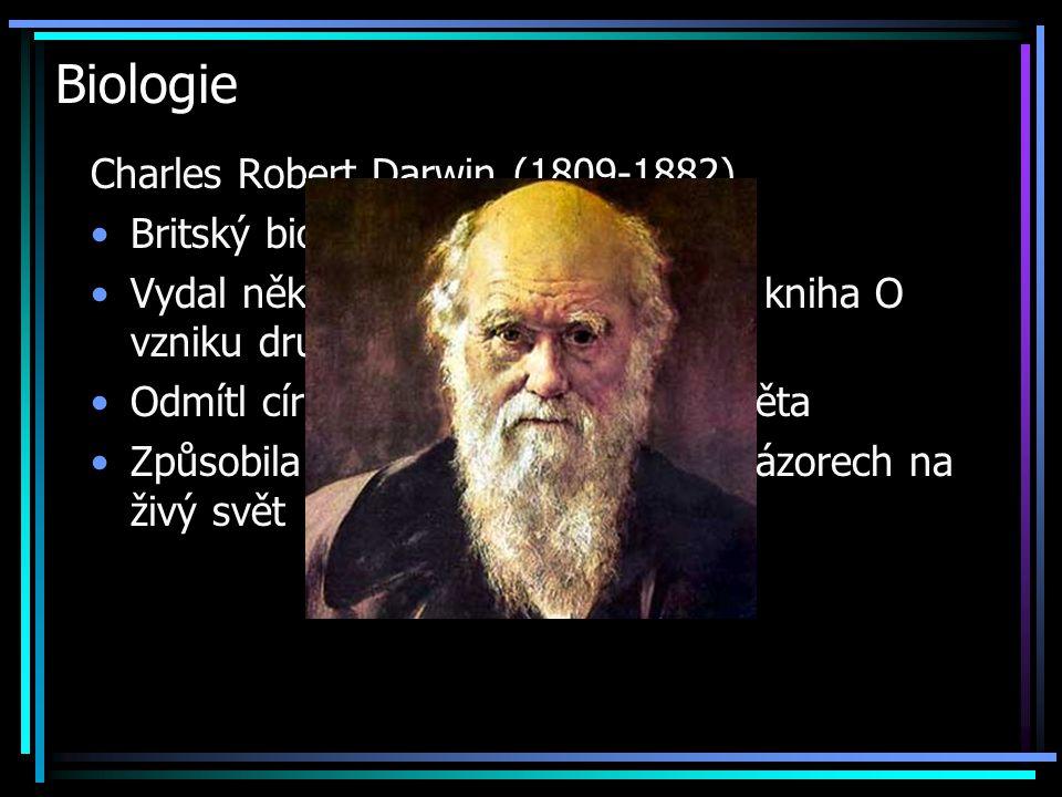 Biologie Charles Robert Darwin (1809-1882) Britský biolog