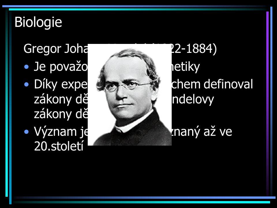 Biologie Gregor Johann Mendel (1822-1884)