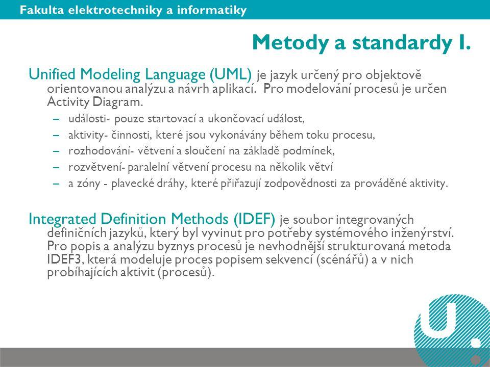 Metody a standardy I.