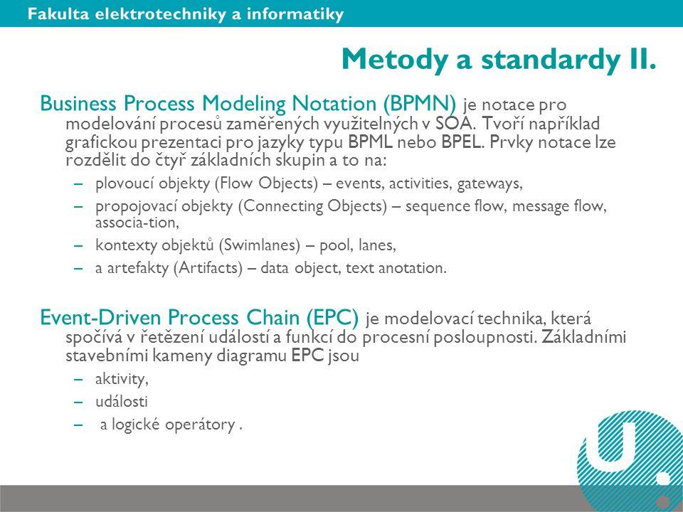 Metody a standardy II.