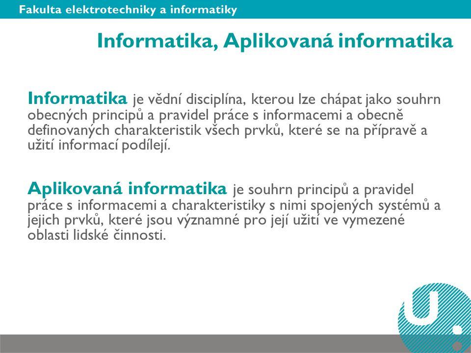 Informatika, Aplikovaná informatika