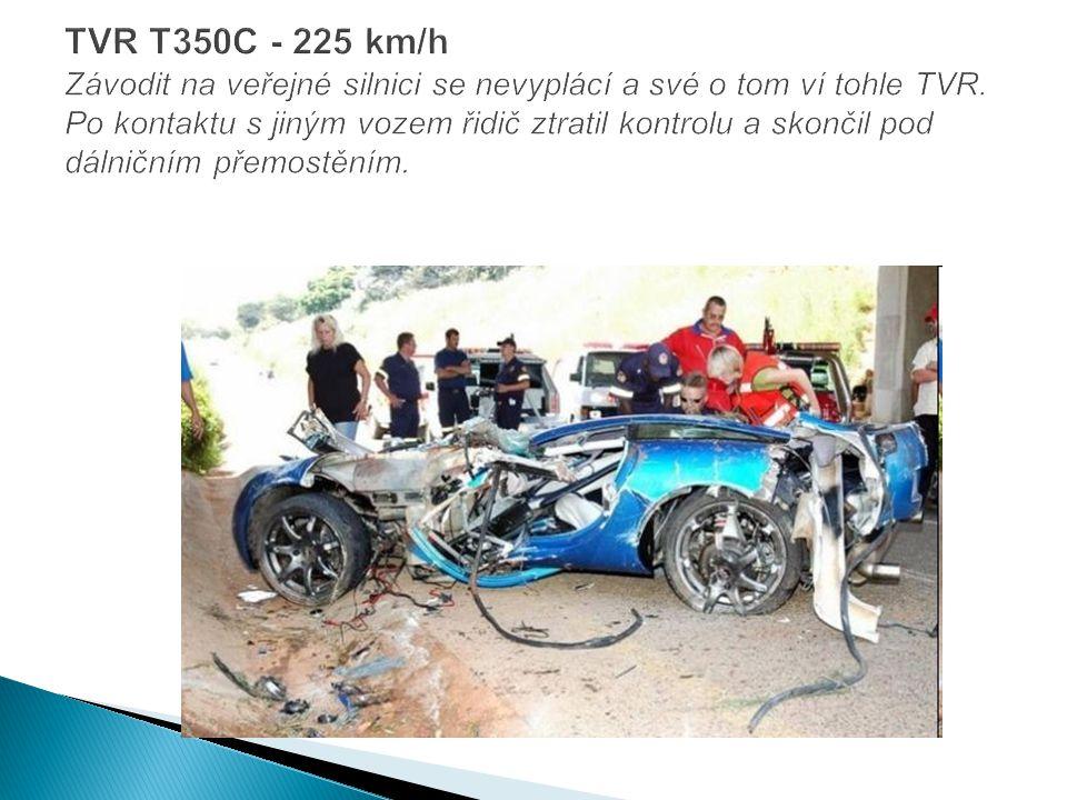 TVR T350C - 225 km/h Závodit na veřejné silnici se nevyplácí a své o tom ví tohle TVR.