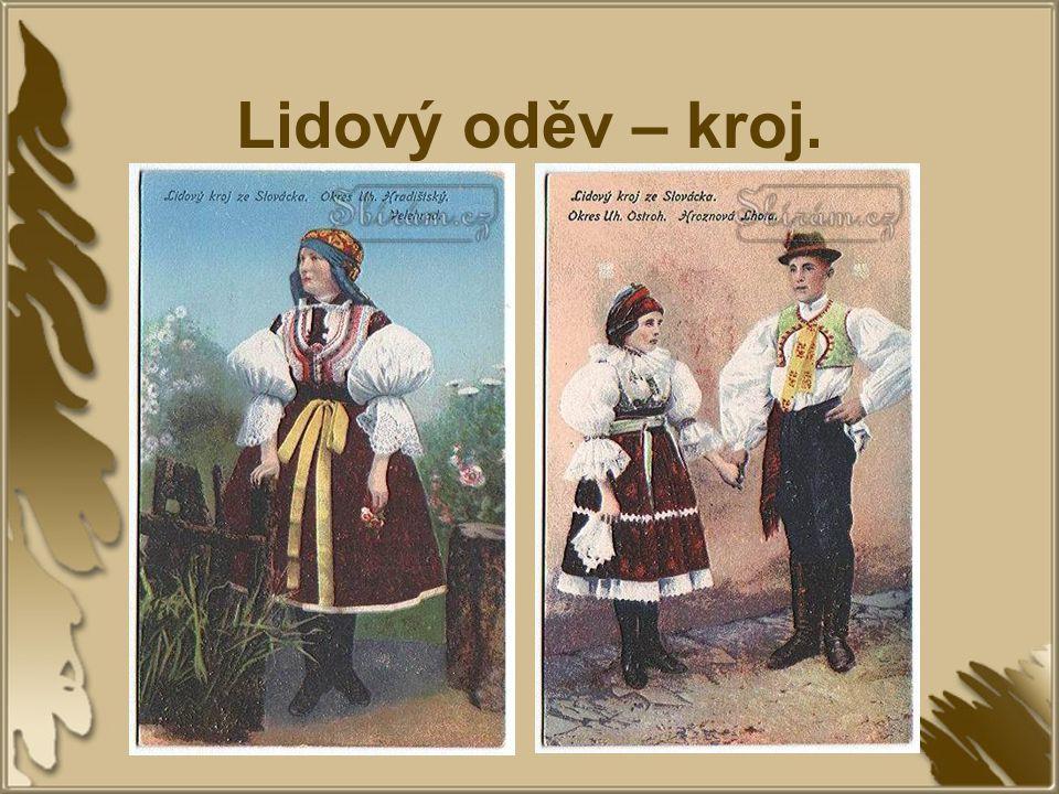 Lidový oděv – kroj.