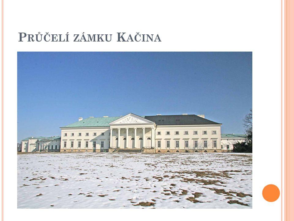 Průčelí zámku Kačina