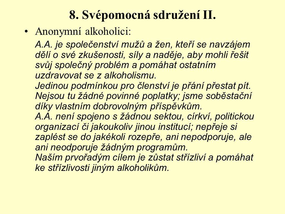 8. Svépomocná sdružení II.