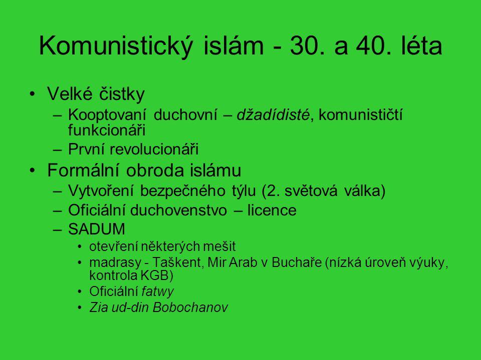 Komunistický islám - 30. a 40. léta