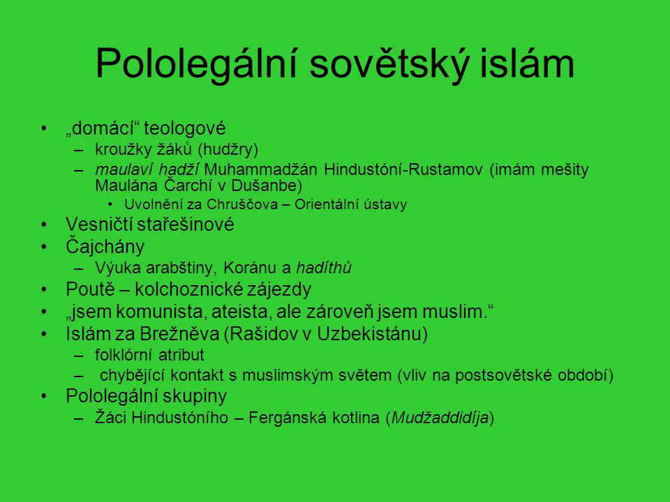 Pololegální sovětský islám