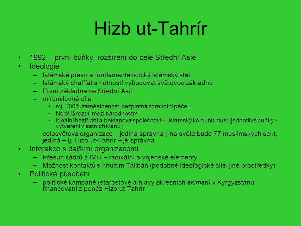 Hizb ut-Tahrír 1992 – první buňky, rozšíření do celé Střední Asie