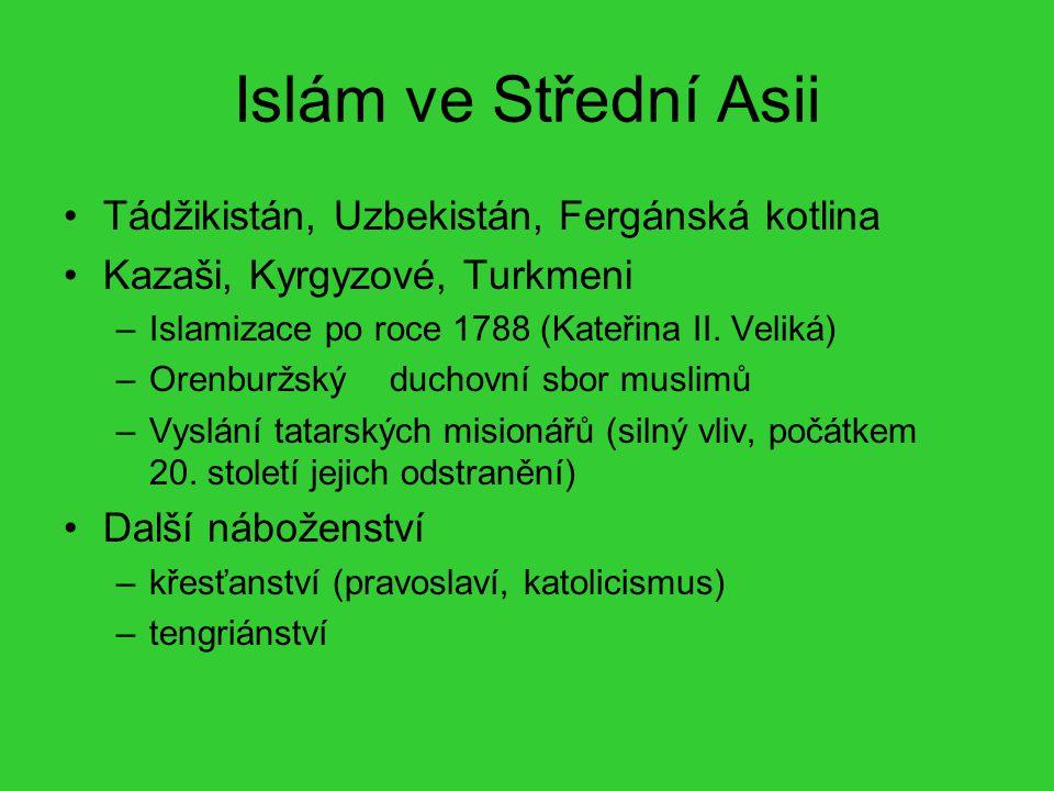 Islám ve Střední Asii Tádžikistán, Uzbekistán, Fergánská kotlina