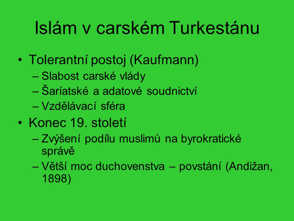 Islám v carském Turkestánu