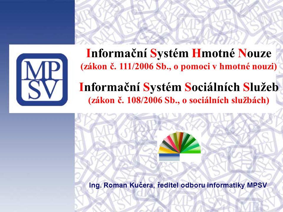 Informační Systém Hmotné Nouze Informační Systém Sociálních Služeb