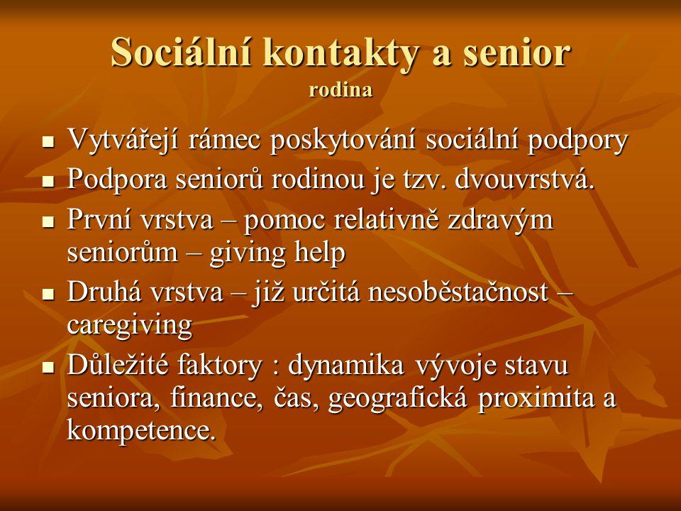 Sociální kontakty a senior rodina