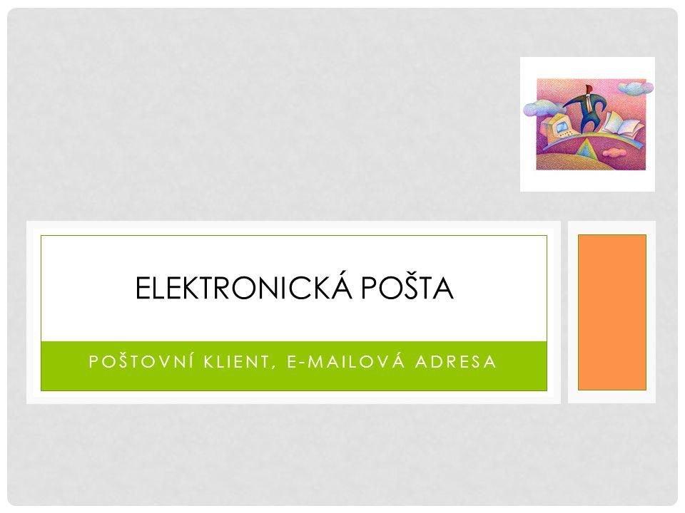 Poštovní klient, e-mailová adresa