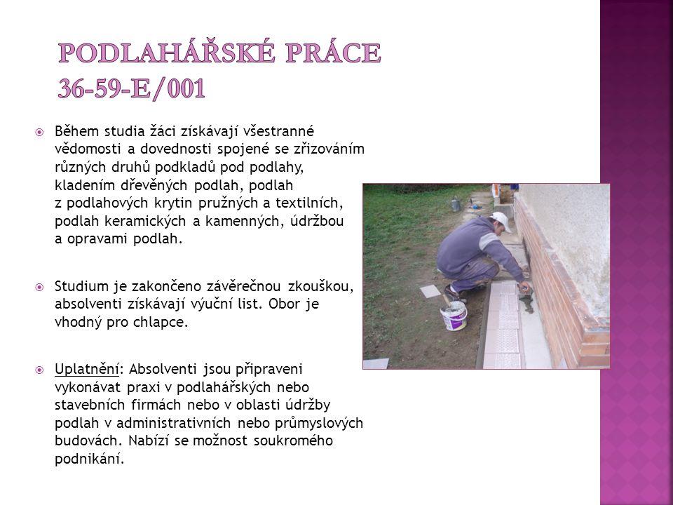 Podlahářské práce 36-59-E/001