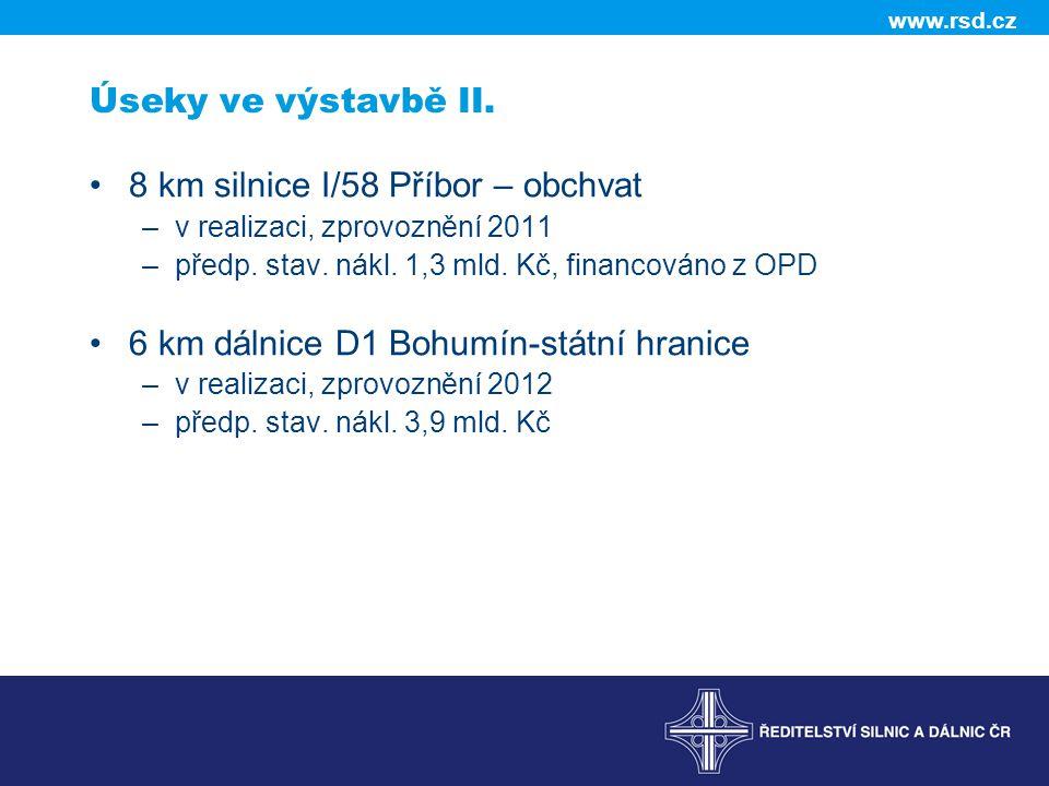8 km silnice I/58 Příbor – obchvat