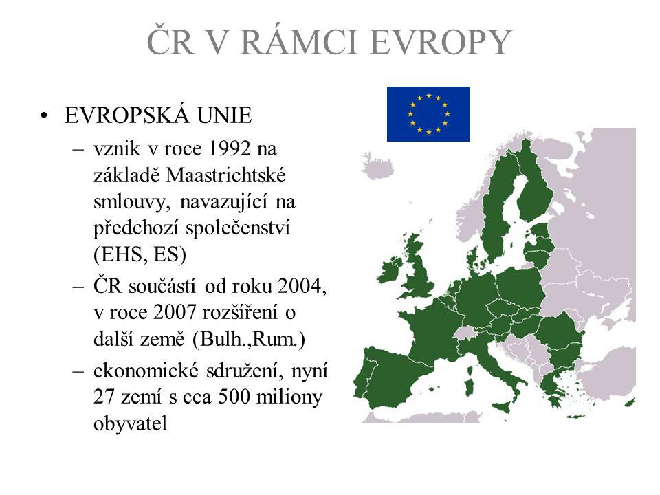 ČR V RÁMCI EVROPY EVROPSKÁ UNIE