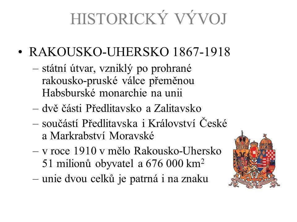 HISTORICKÝ VÝVOJ RAKOUSKO-UHERSKO 1867-1918