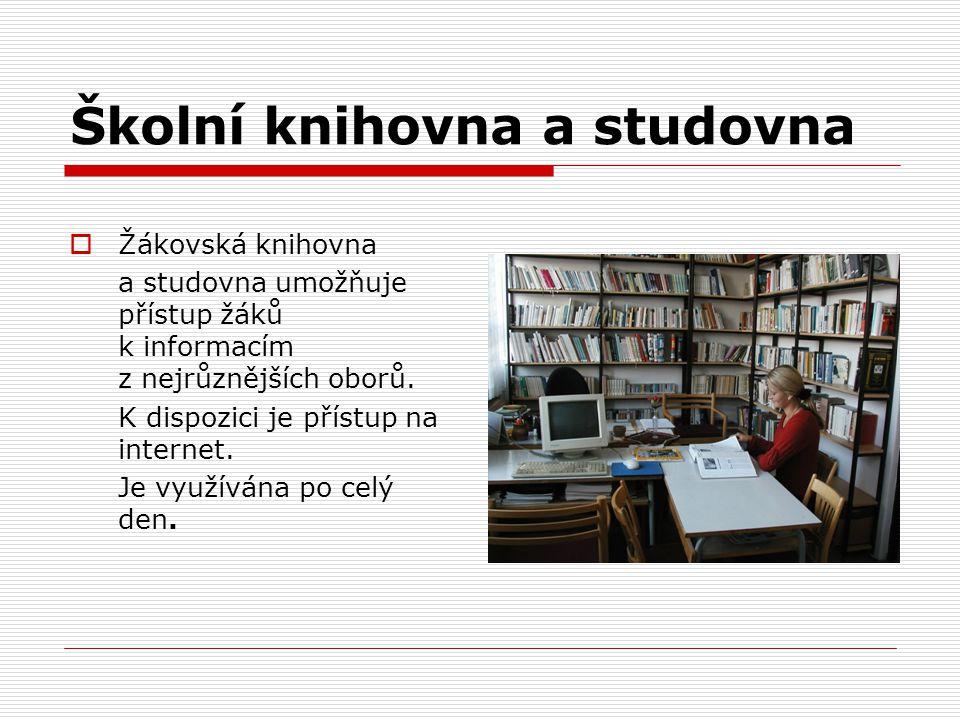 Školní knihovna a studovna