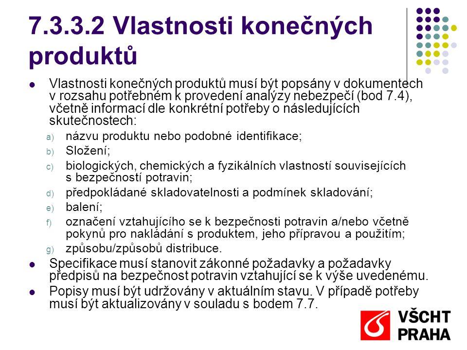 7.3.3.2 Vlastnosti konečných produktů