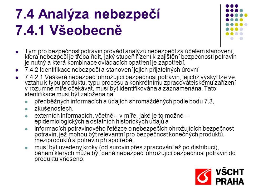 7.4 Analýza nebezpečí 7.4.1 Všeobecně