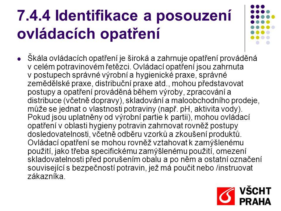 7.4.4 Identifikace a posouzení ovládacích opatření