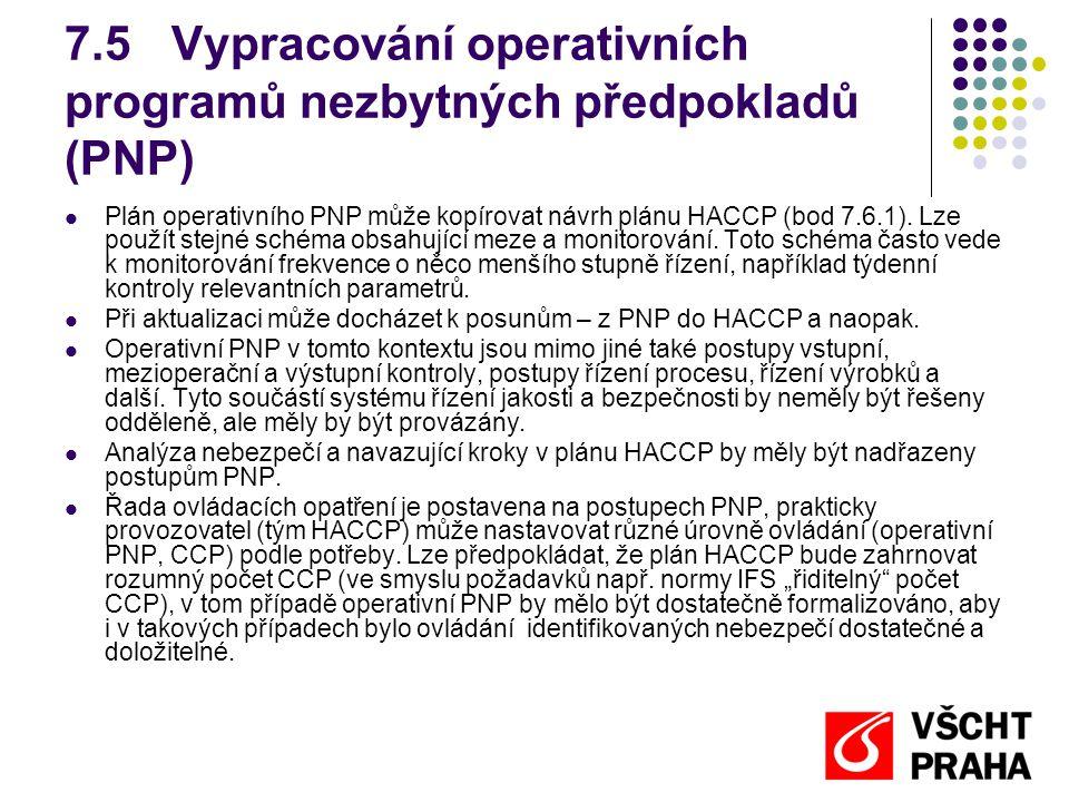 7.5 Vypracování operativních programů nezbytných předpokladů (PNP)