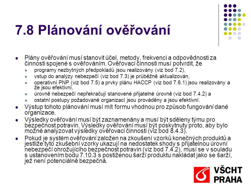 7.8 Plánování ověřování
