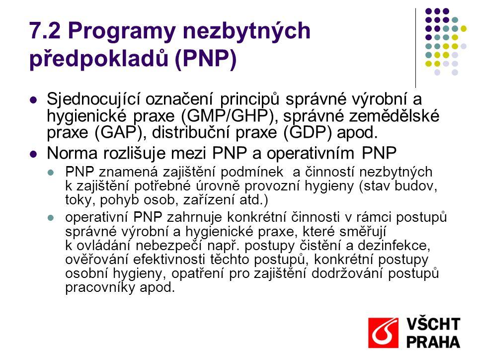 7.2 Programy nezbytných předpokladů (PNP)