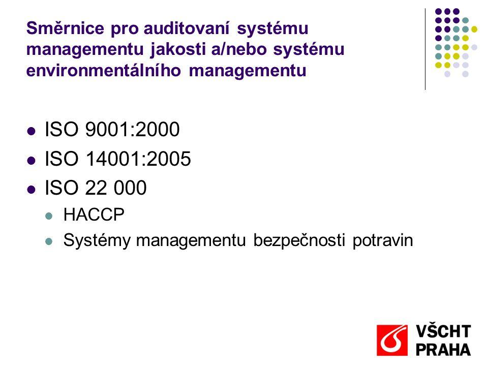 Směrnice pro auditovaní systému managementu jakosti a/nebo systému environmentálního managementu
