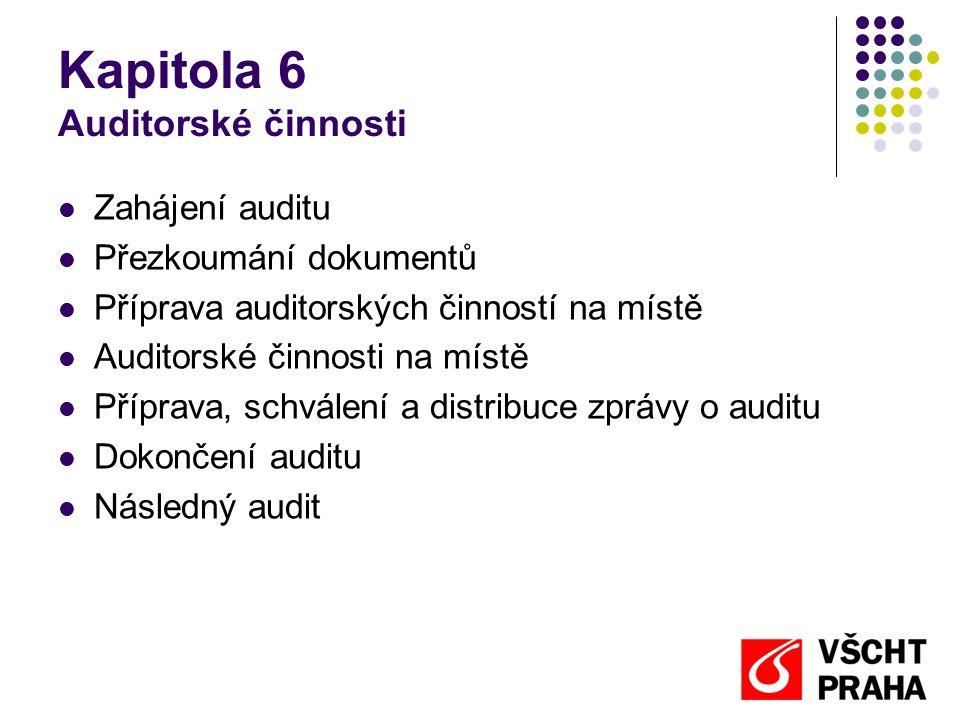 Kapitola 6 Auditorské činnosti