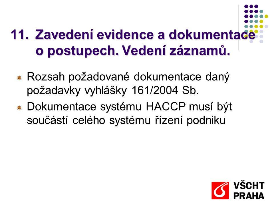 Zavedení evidence a dokumentace o postupech. Vedení záznamů.