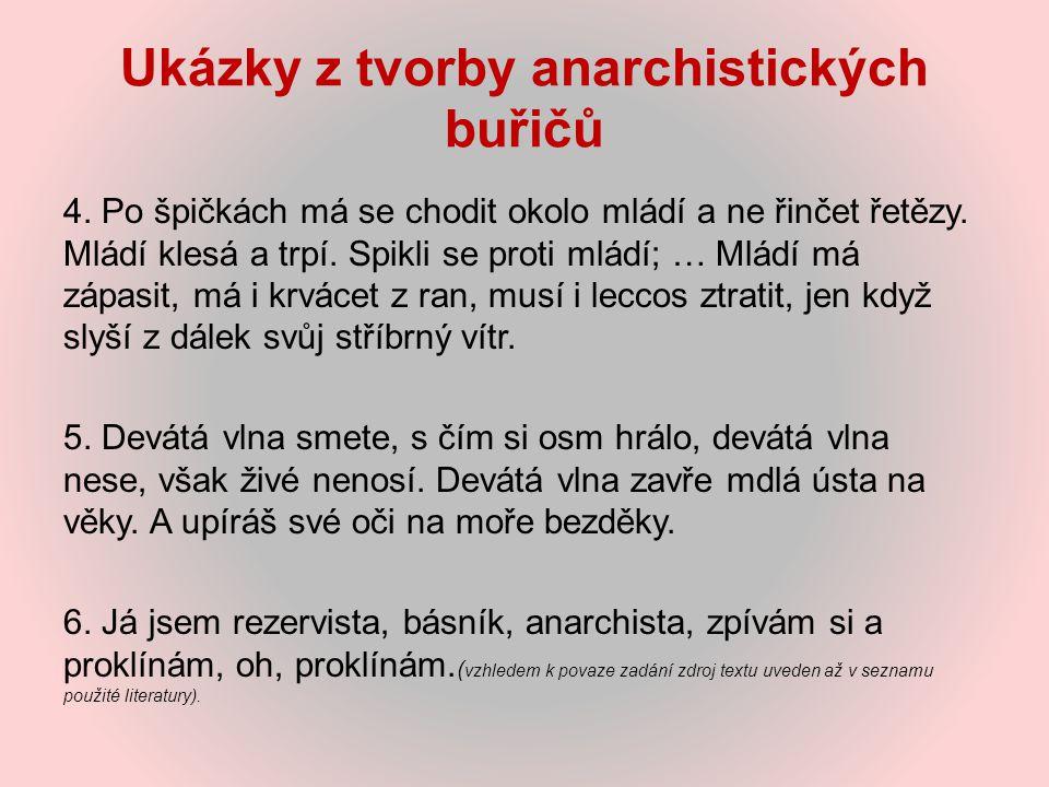 Ukázky z tvorby anarchistických buřičů