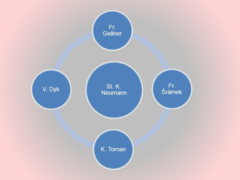 St. K. Neumann Fr. Gellner Fr. Šrámek K. Toman V. Dyk