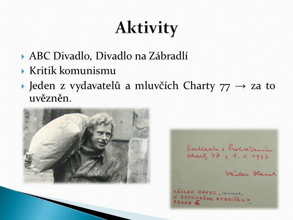 Aktivity ABC Divadlo, Divadlo na Zábradlí Kritik komunismu