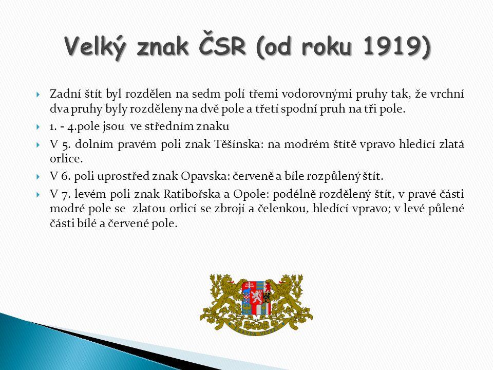 Velký znak ČSR (od roku 1919)