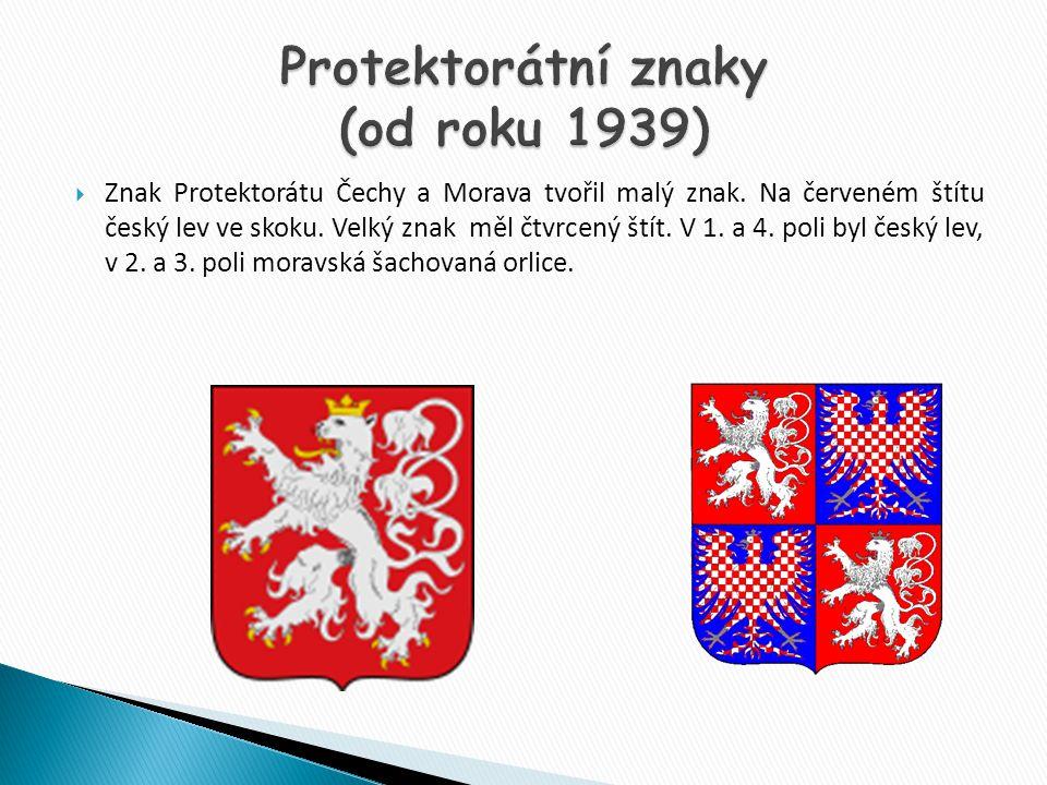 Protektorátní znaky (od roku 1939)