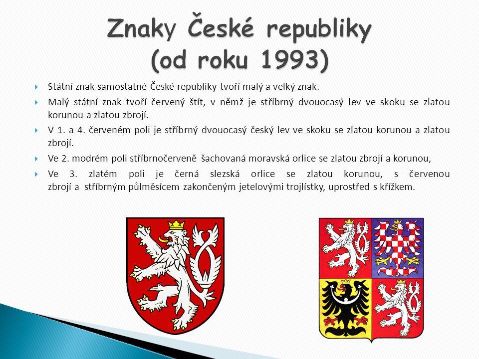 Znaky České republiky (od roku 1993)
