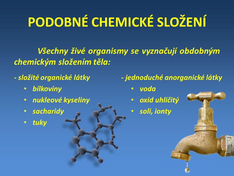 PODOBNÉ CHEMICKÉ SLOŽENÍ
