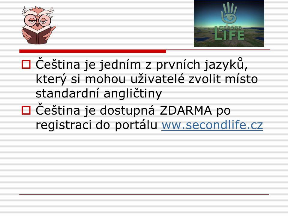 Čeština je jedním z prvních jazyků, který si mohou uživatelé zvolit místo standardní angličtiny