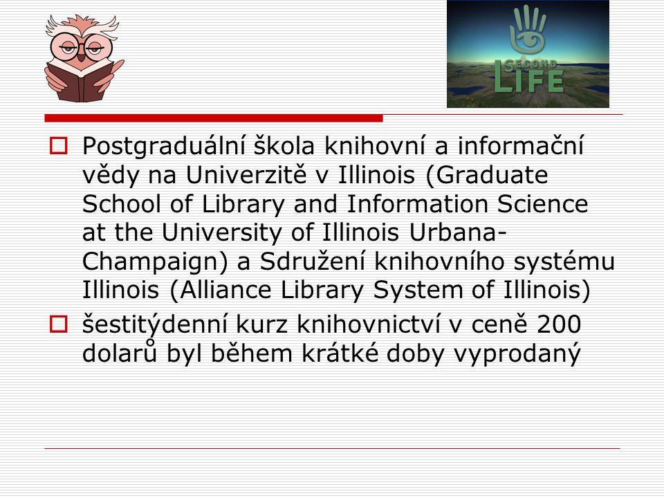 Postgraduální škola knihovní a informační vědy na Univerzitě v Illinois (Graduate School of Library and Information Science at the University of Illinois Urbana-Champaign) a Sdružení knihovního systému Illinois (Alliance Library System of Illinois)